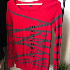 Armani Exchange Red Sweater